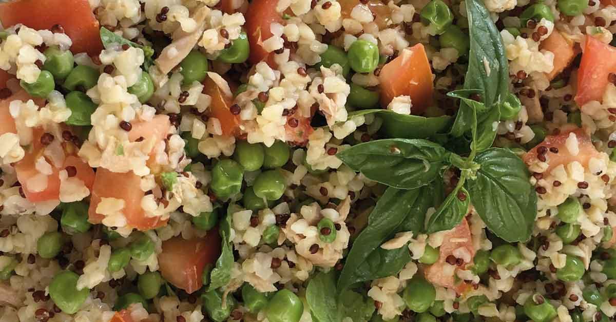 insalata di bulgur e quinoa