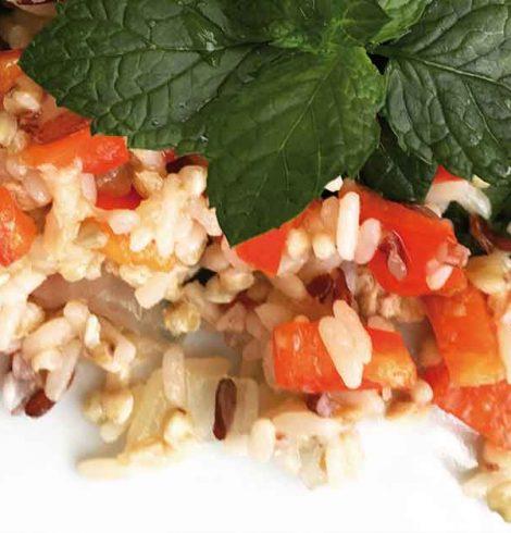 Insalata di farro con peperoni e cipolla di Giarratana