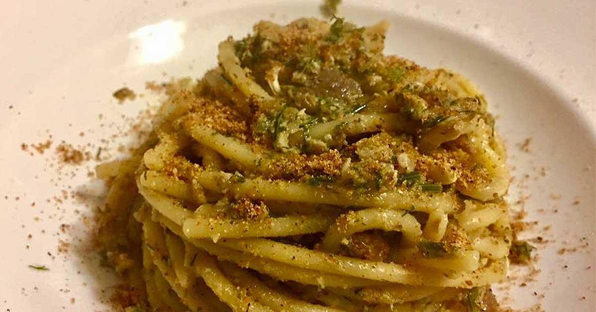 Linguine Con Pesce Spada Limone Succo E Scorza E Menta