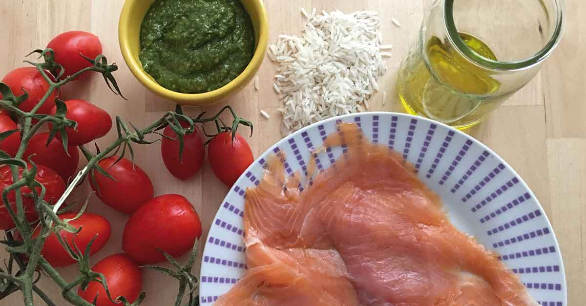 ingredienti insalata di riso con salmone