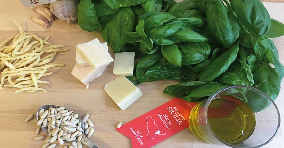 ingredienti pesto genovese originale