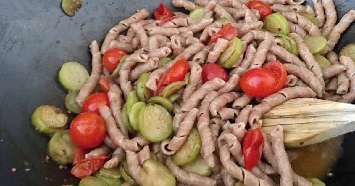 pasta risottata con zucchine