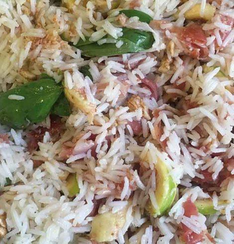 Insalata di riso con fichi e crudo