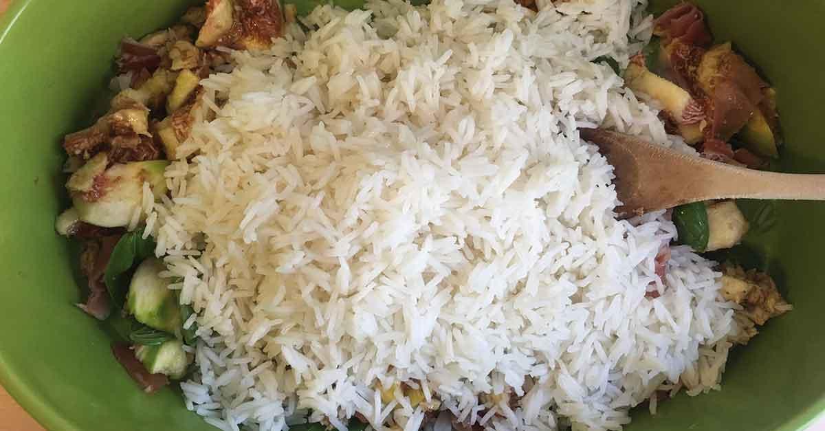 risotto-riso-fichi-e-crudo-preparazione
