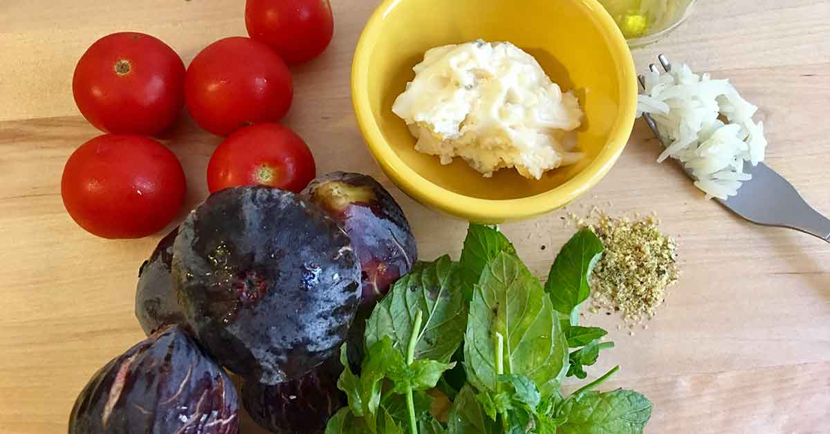 ingredienti per il risotto gorgonzola e fichi