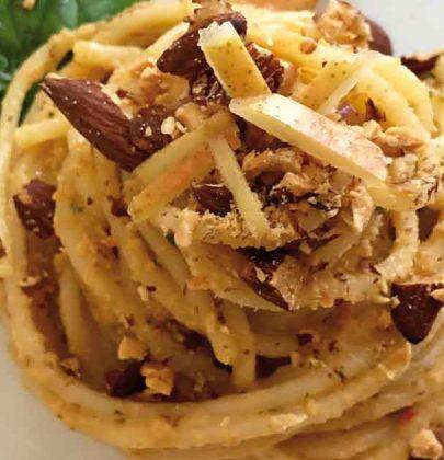 Spaghetti alla pera e cipolla di Giarratana