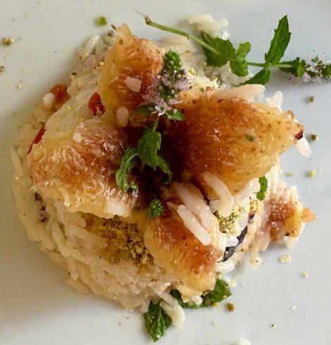 Insalata di riso con fichi e gorgonzola