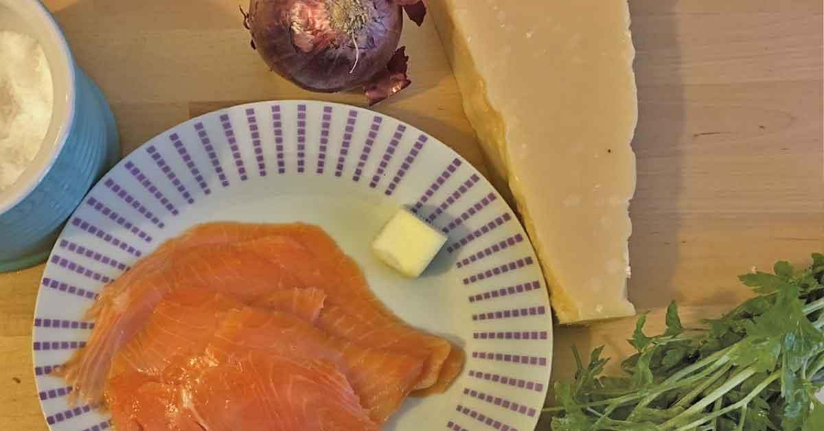 ingredienti pasta salmone e panna