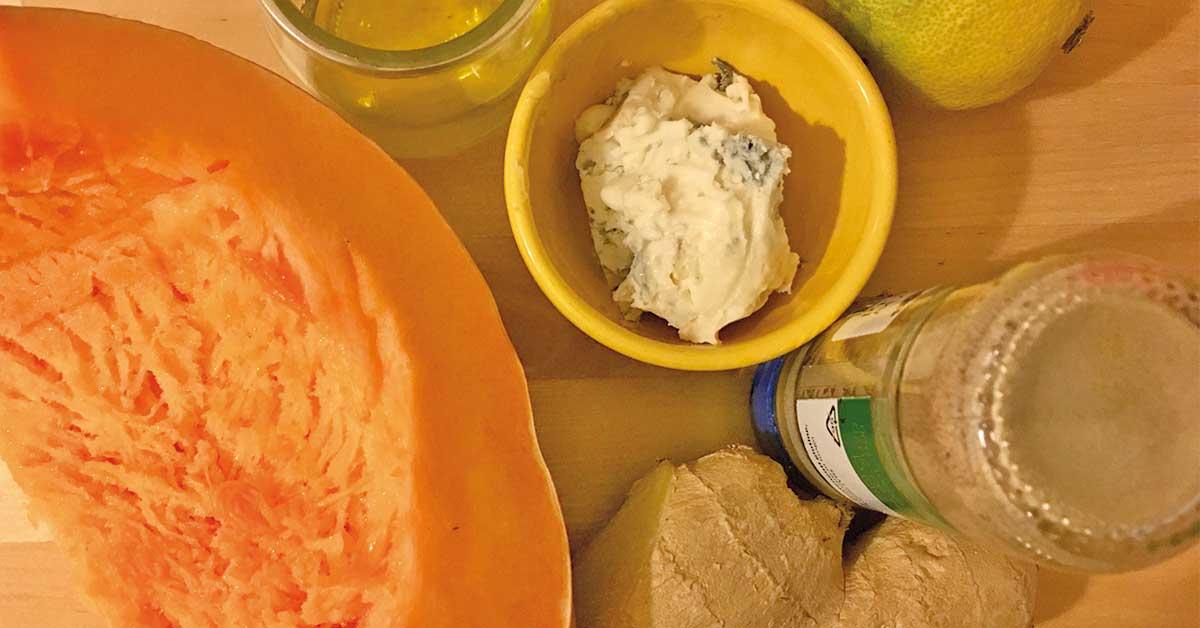 pasta-alla-zucca-con-gorgonzola-e-zenzero-ingredienti-