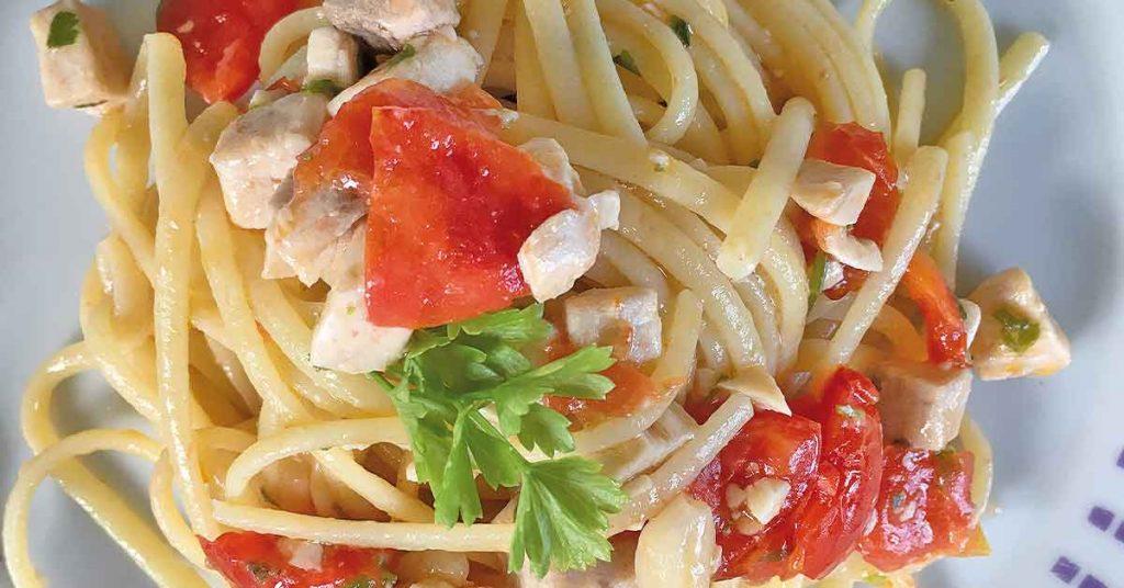 Linguine Con Pesce Spada E Pomodorini La Ricetta Classica