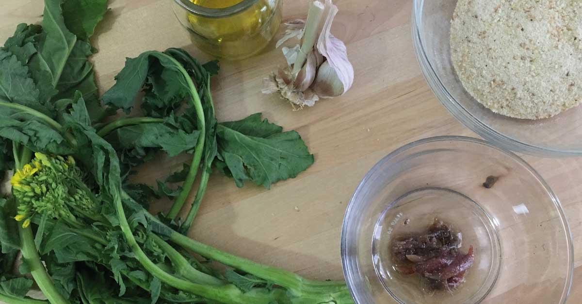 ingredienti pasta con cime di rapa