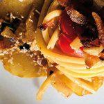 pasta con zucchina spinosa e guanciale