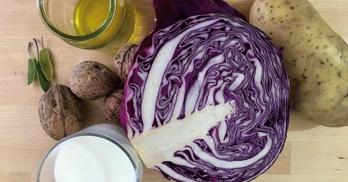 vellutata di cavolo viola ingredienti