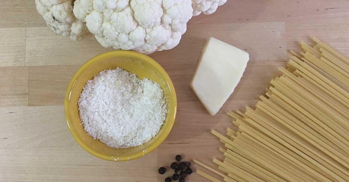 ingredienti linguine e cavolfiore