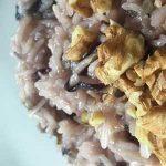 risotto con salsiccia, radicchio e noci