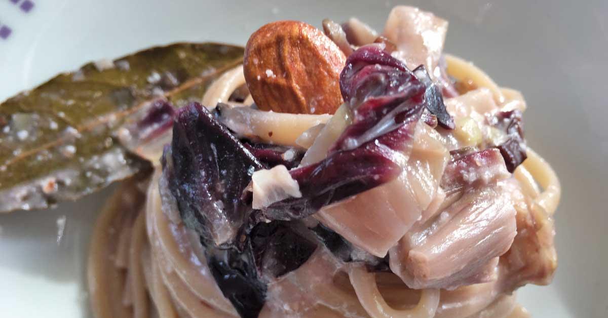 Pasta con radicchio e caprino pronta in 10 minuti for Primi piatti tipici romani