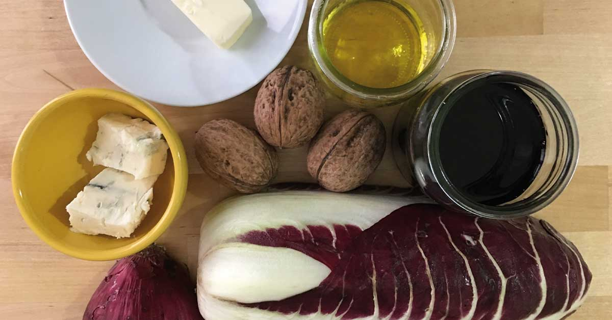 risotto con radicchio e gorgonzola ingredienti
