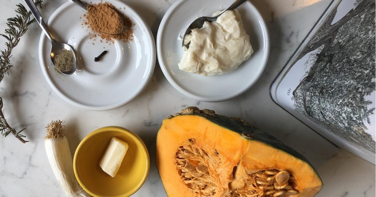 ingredienti risotto con zucca e stracchino