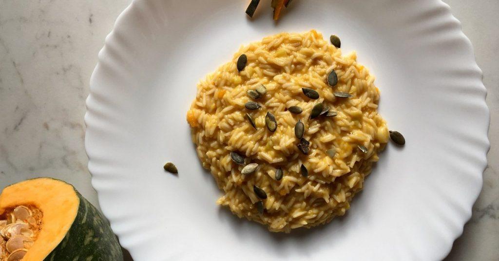 risotto zucca e stracchino con riso basmati